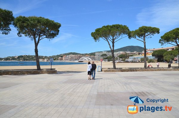 Access for disabled people on the beach in Ste Maxime