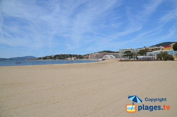 Photo of ciy centre beach of Sainte Maxime in France