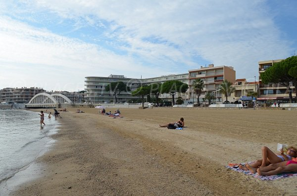 West part of city centre beach in Sainte-Maxime