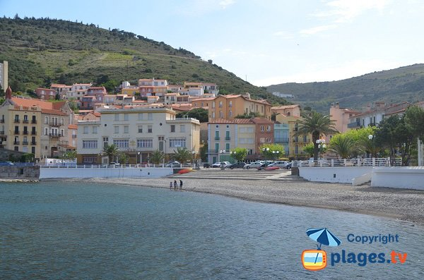 Seafront of Cerbere in France
