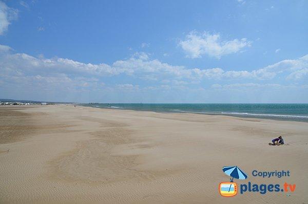 Beautifull sand beach in Gruissan