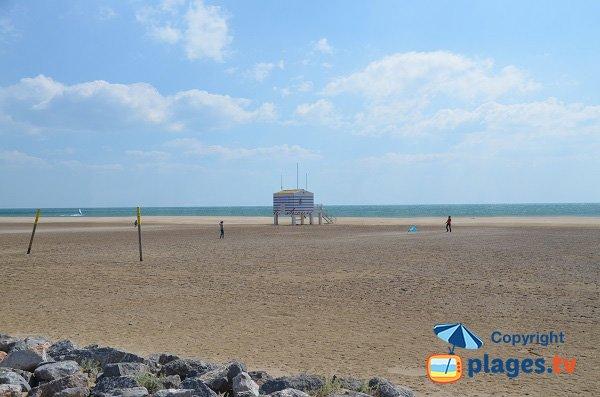 Spiaggia degli Chalets a Gruissan in Francia