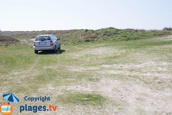 Parking de la plage du Champ - Bretteville sur Ay