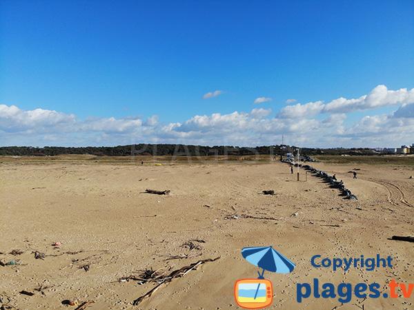 Accès à la plage du Champ de Tir à Tarnos