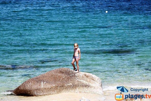 Rochers sur la plage des Chardons Bleus - Brignogan