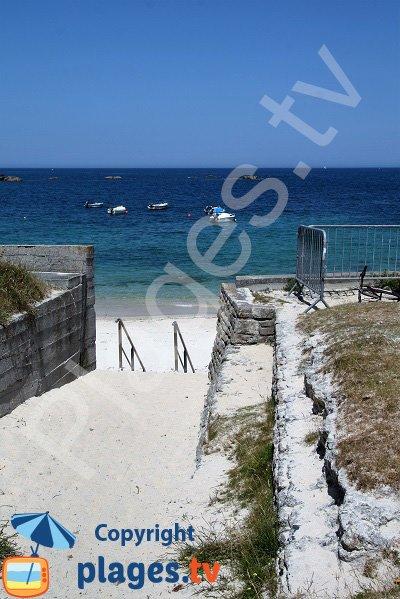 Accès à la plage des Chardons Bleus - Brignogan