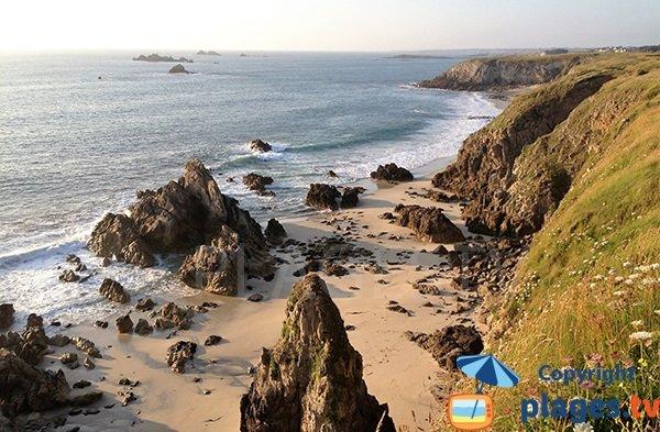 Plage naturiste à Plouarzel en Bretagne