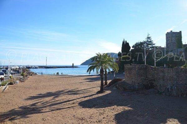 Chateau beach in Mandelieu in France