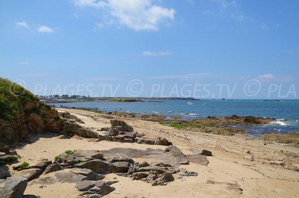 Pointe du Percho depuis la plage de Pouladen - St-Pierre-Quiberon