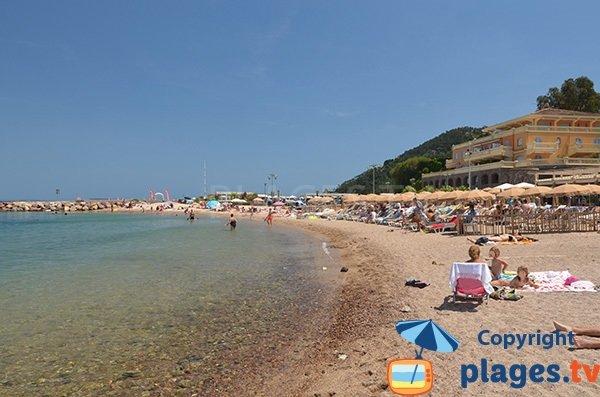 Private beach in Theoule sur Mer