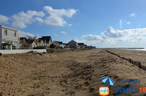 South of Grande plage in Chatelaillon - France