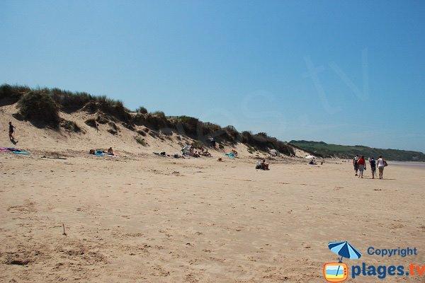 Dunes sur la plage de Tardinghen