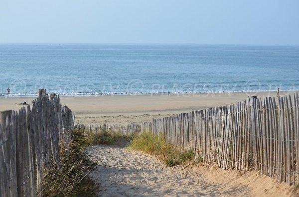 Sentier d'accès à la plage de Chaucre