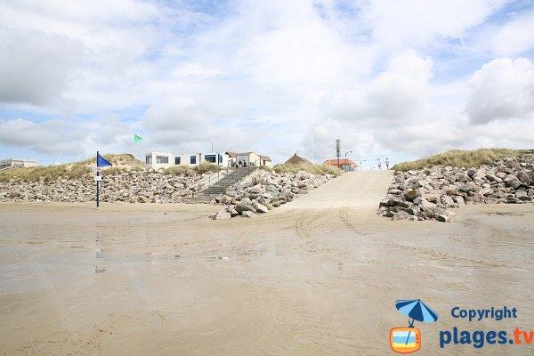 Accès à la plage du Chemin des Bateaux de Sainte-Cécile