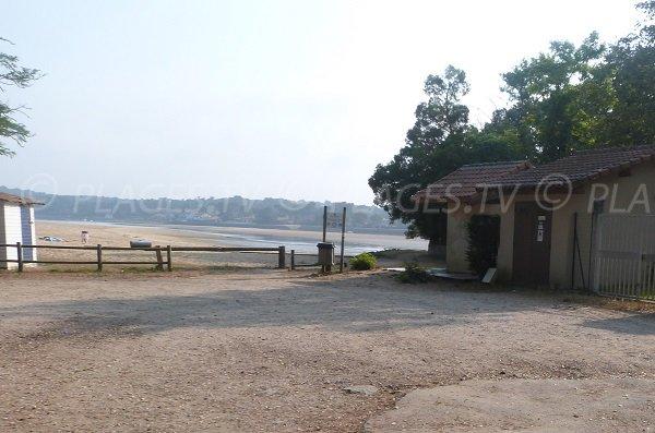 Abord de la plage des Chênes Lièges à Hossegor