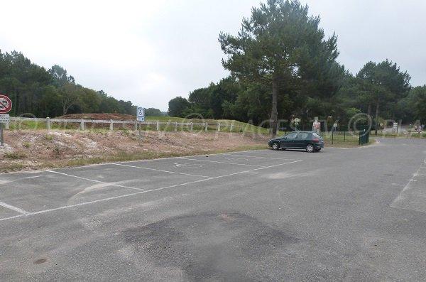 parcheggio gratuito della spiaggia Chênes Lièges a Moliets et Maa