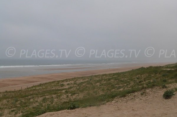 Chênes Lièges beach in Moliets et Maa in France