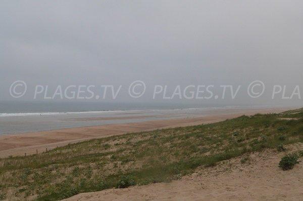 spiaggia sud di Moliets-et-Mâa - Francia