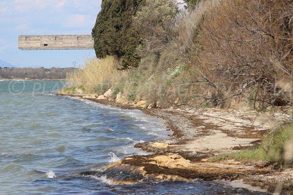Plage à proximité des thermes Hespérides à Balaruc les Bains