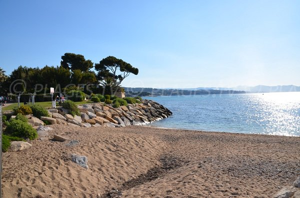 Photo of the beach reserved for dogs in La Ciotat