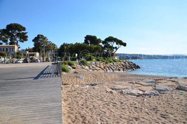 Access to the dogs beach in La Ciotat