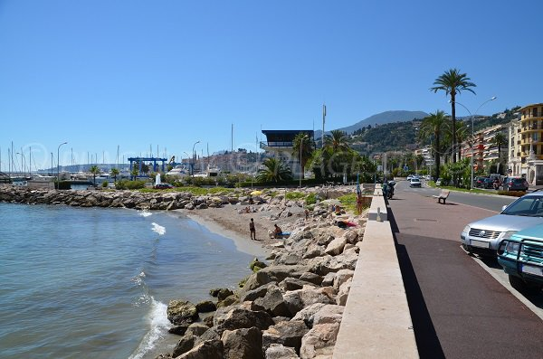 Dogs beach in Menton