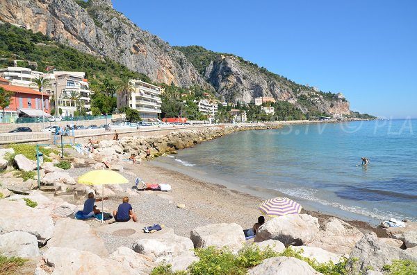 Beach for dogs in Menton - France