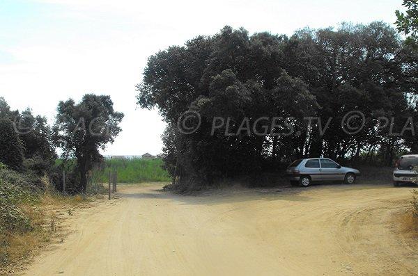 Parking of Chiosura beach - Linguizzetta
