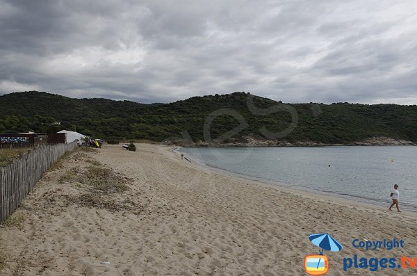 Left side of Chiuni beach - nautical activities - Cargèse