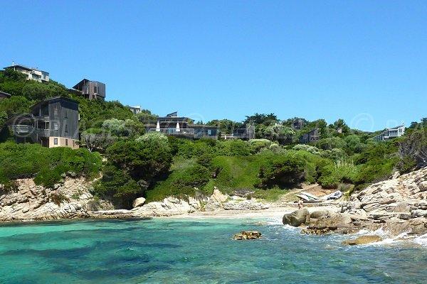 Ciappili cove in Bonifacio in Corsica