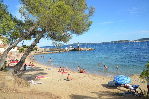 Photo of Cigales beach in Port-Grimaud in France in summer