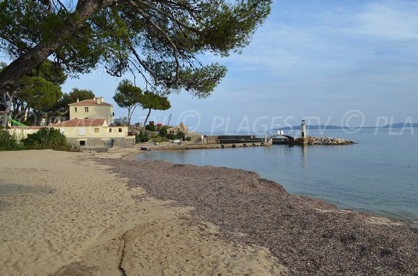 Beach just outside Port Grimaud