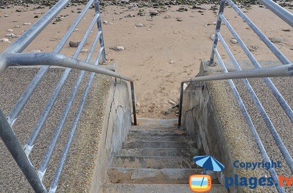 Access to Clémenceau beach - St Vincent sur Jard