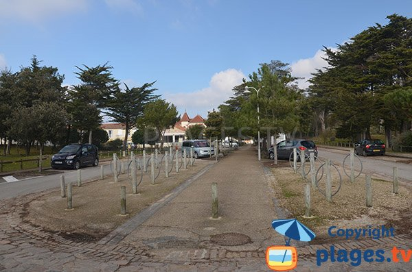 Parking of Clémenceau beach in Saint Vincent sur Jard