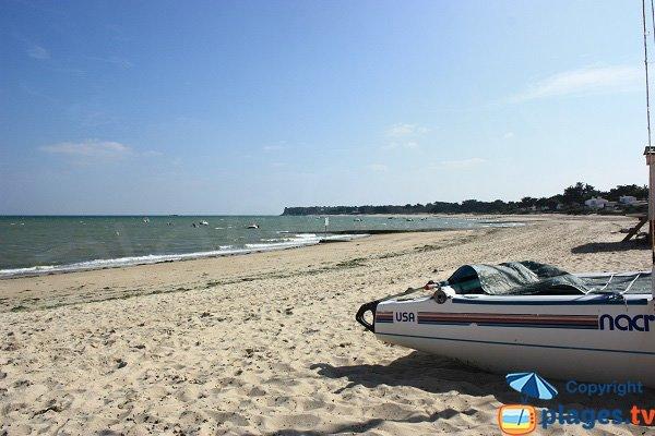 Photo de la plage de la Clère à Noirmoutier