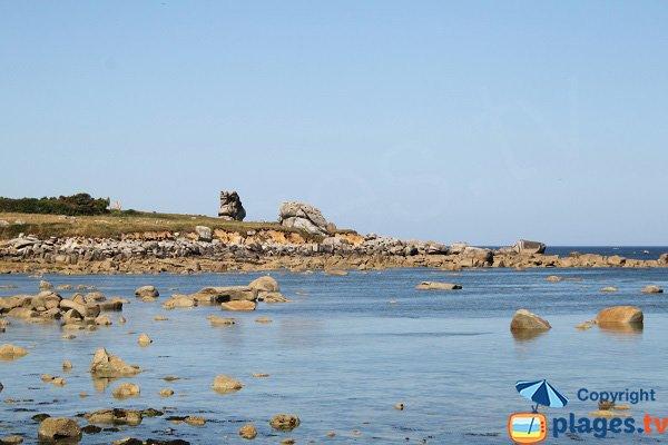 Environnement de la plage du Click - Plouescat