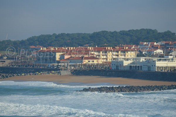 Beach in Chambre d'Amour district in Anglet