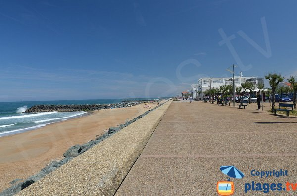 Club beach in Anglet in France