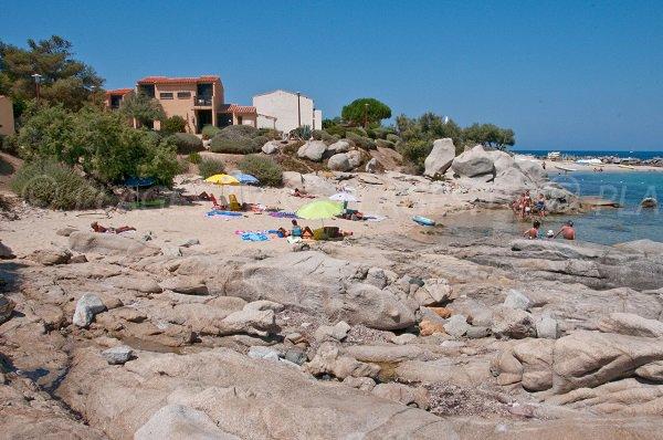 Plage à côté du Club Med de Lumio - Marina de Sant Ambroggio