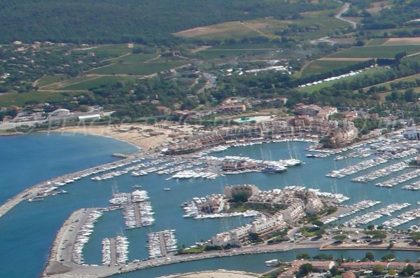Aerial view of Cogolin and its Marinas