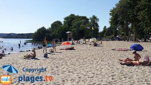 Photo de la plage du Col Vert à Vielle St Girons dans les Landes - Lac Léon