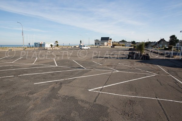 Parking of Colleville-Montgomery beach