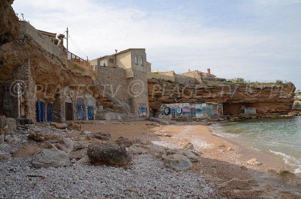 Plage des Sablettes à Marseille