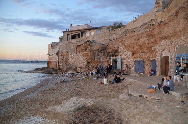 Colombet beach in the evening - Marseille
