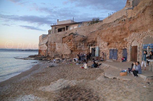 spiaggia Colombet  di sera