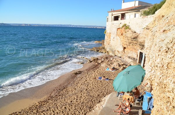 Foto della spiaggia di Colombet a Marsiglia