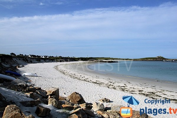 Photo de la plage des Colons à Porspoder