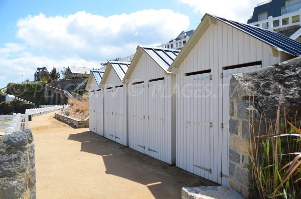 bath cabins of Comtesse beach - St Quay Portrieux