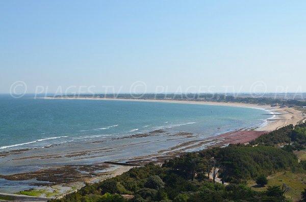 Photo de la plage de la conche des Baleines sur l'ile de Ré