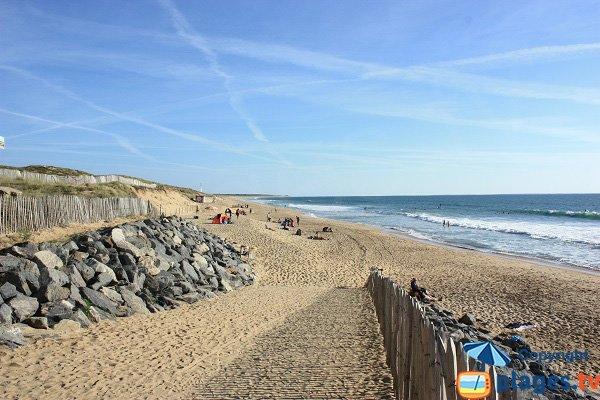 Photo de la plage des Conches à Longeville sur Mer